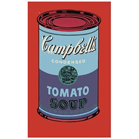 Stampa artistica 'Campbell's Soup Can, 1965 (Blue and Purple)', per Andy Warhol, Dimensione: 33 x 48