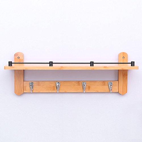LOFTfan kleiderständer Garderobe Wandaufhänger, Bambus Wand Vitrinen, Küchenschränke Badezimmerwand Kleiderbügel Garderobe hutablage (Größe : B1)