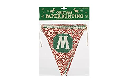 Vintage Style Merry Christmas Red and Green
