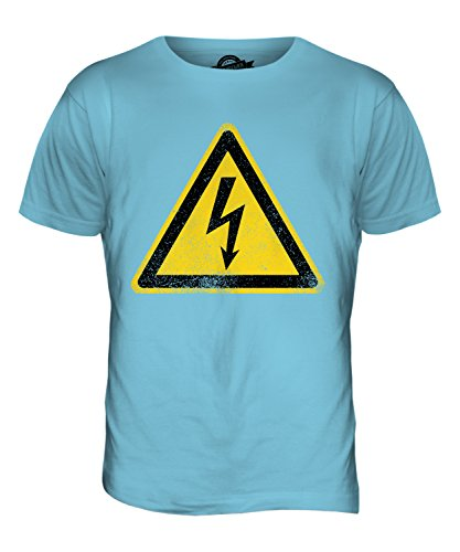 CandyMix Warnung Vor Elektrischer Spannung Herren T Shirt Himmelblau