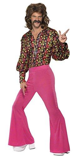Out Hippie Hippie 1960er 60er Jahre Hirsch Do Flares Decades Kostüm Outfit M & L (Large) ()