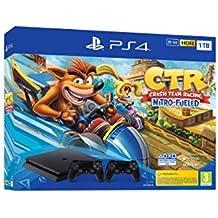 PlayStation 4 (PS4) - Consola, 1 TB, Color Negro + Crash Team Racing