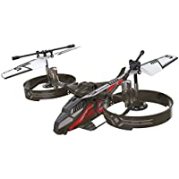 Silverlit- Helicoptero Twin Rotor 3 Canales, Color Negro (84722)