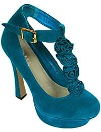 Col Da Azzurre Donna Tacco it Scarpe Amazon nYqTWUPT