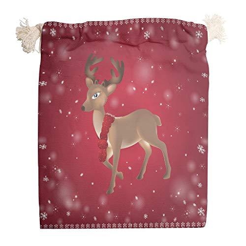 Zhcon 5 Paquetes Bolsas Lona Natural Navidad cordón