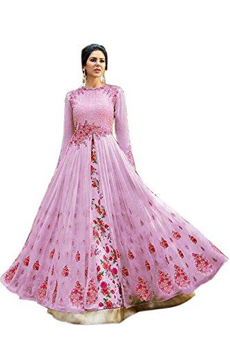 Jaksh Creation Women Georgette Bollywood Designer Semi-Stitched Salwar Suit (NewJKSh-BE11051_Pink_Free Size)