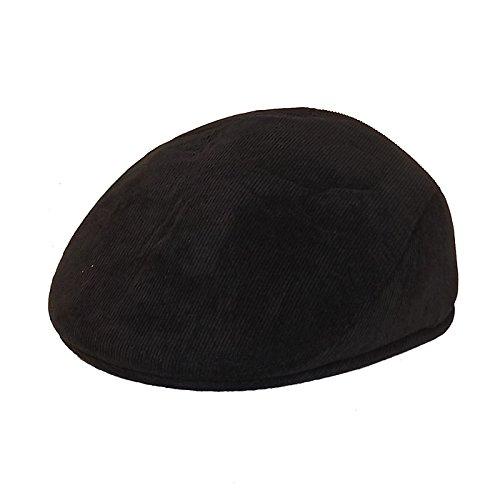 Chapeau-tendance - Casquette Homme Velours Noir Cache Oreilles - 55 - Homme