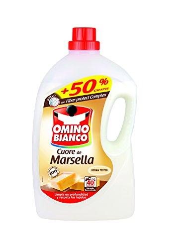 Omino Bianco Detergente Liquido Cuero de Marsella - 1809 ml + 905 ml