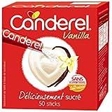 CANDEREL - Sucralose en Sticks – Edulcorant - le Gout du Sucre Sans Calorie - Sans Aspartame - Vanilla - 50 Sticks - Lot de 4