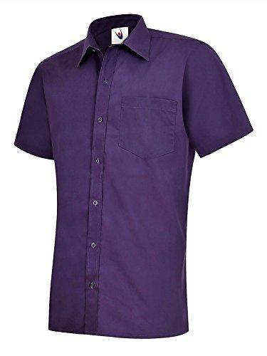 247-Clothing Camicia Classiche - Basic - Classico - Uomo Purple