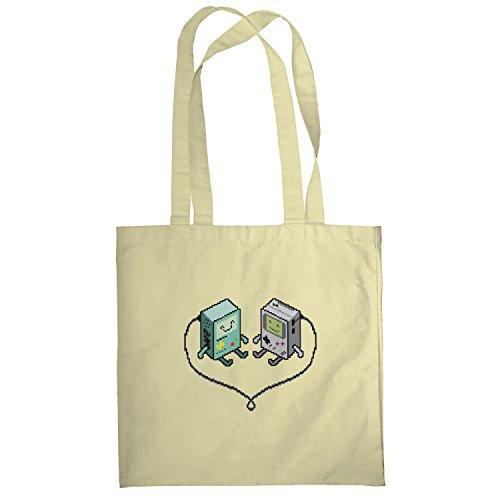 Texlab–Hand Held Love–sacchetto di stoffa Naturale