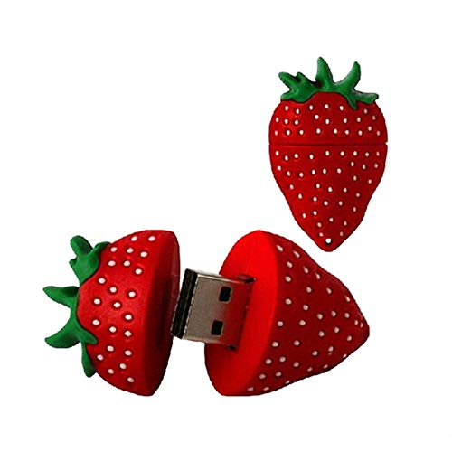 (Digibluusky USB-Stick in Ananas-Form, 16 GB / 32 GB, USB 2.0, niedliches Design Erdbeere Erdbeere 16GB)