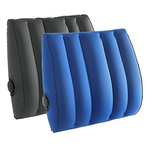 , cuscino da viaggio gonfiabile da campeggio compatto leggero gonfia Backpacking per collo supporto lombare perfetto auto aereo spiaggia escursioni comodi cuscini caccia pesca cuscino poggiatesta Blue