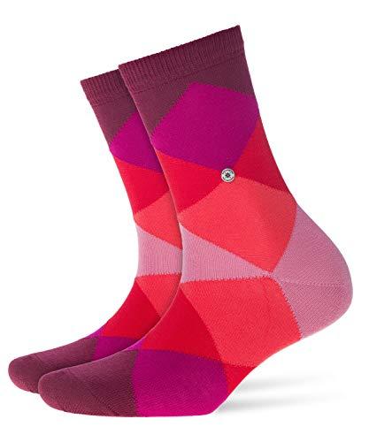BURLINGTON Damen Socken Bonnie - Baumwollmischung, 1 Paar, Rot (Shadow Red 8138), Größe: 36-41