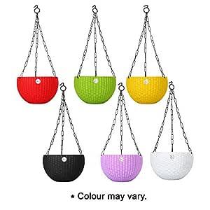 Kraft Seeds Hanging Planter Gamla Pot (Multicolour, Pack of 6)