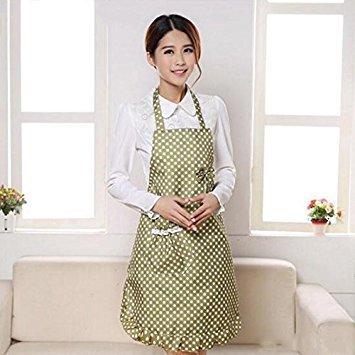 Générique Vert : NEUF arrivée Femme 3 couleurs étanche Pois Bow-knot Tablier sans manches 73 cm*68 cm Tablier pour restaurant de cuisine cuisson haute Quty