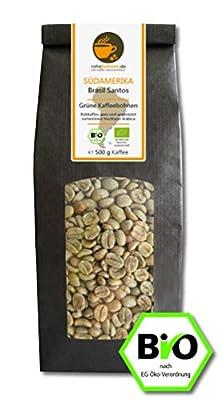 Organic green coffee beans - Arabica Brazil Santos by Rohebohnen