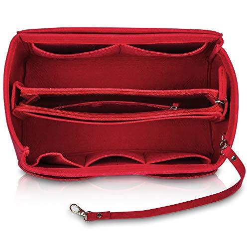 umatter ® Handtaschen Organizer aus Filz mit abnehmbaren Schlüsselanhänger und Sicherheitsfach - Ideal als Bag Organizer für die innentasche der Handtasche, Taschenorganizer