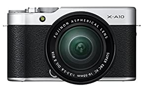 Fujifilm X-A10 Compact System Camera with XC16 - 50 mm Kit - Silver