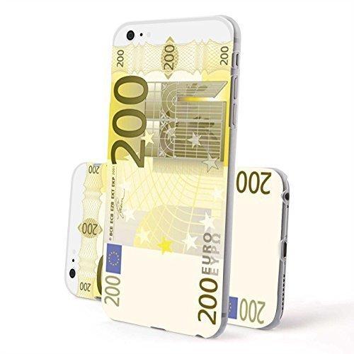 Finoo Iphone 6/6S Hardcase Handy-Hülle | Transparente Hart-Back Cover Schale mit Motiv Muster | Tasche Case mit Ultra Slim Rundum-schutz | stoßfestes dünnes Bumper Etui | 200 Euro Schein (Euro-schein-muster)