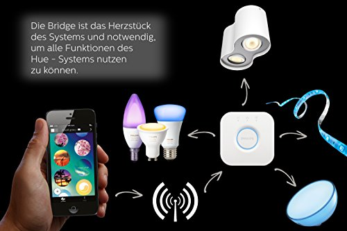 Philips Hue LED Lampe E27 Starter Set inklusive Bridge, 2. Generation, 3-er Set, dimmbar, 16 Mio Farben, app-gesteuert - 7