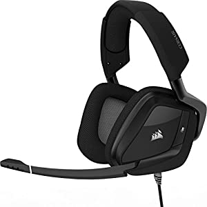 Corsair Void PRO RGB USB Gaming Headset (Customisable RGB Lighting, Microfibre Memory Foam Earcups, 7.1 Dolby Surround Sound, Optimised Unidirectional Microphone, Xbox Compatible) - Carbon Black