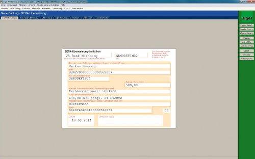 Sigel SW235 WinBanking Professional, Software für Bankformular-Management, inkl. 60 Bankformulare - auch für SEPA - 6