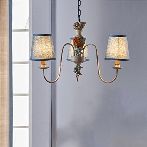 Zylinder-befestigung (Yuyuan Light Moderne einfache Eisen Pendelleuchte blau Tuch Zylinder Lampcover, Ocean Style Deckenleuchte Befestigung eingebettet, Schlafzimmer Wohnzimmer Kinderzimmer Beleuchtung Kronleuchter)