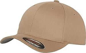 Flexfit 6277 Wooly Unisex Combed Cap, khaki, L/XL