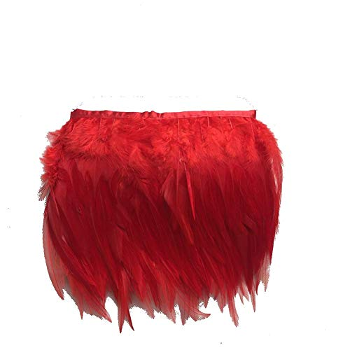 shekyeon 9,1m/Lotto Rooster Hackle Feather Trim Kostüm Kleid -