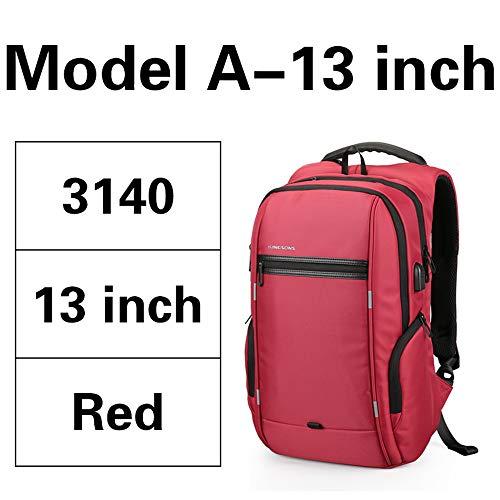 TnXan Bike Backpacks Casual Daypacks Trekking Rucksacks External USB Charge 13.3 15.6 17.3 inches Waterproof Laptop Backpack Men Women Travel Backpack Student Backpack Bag