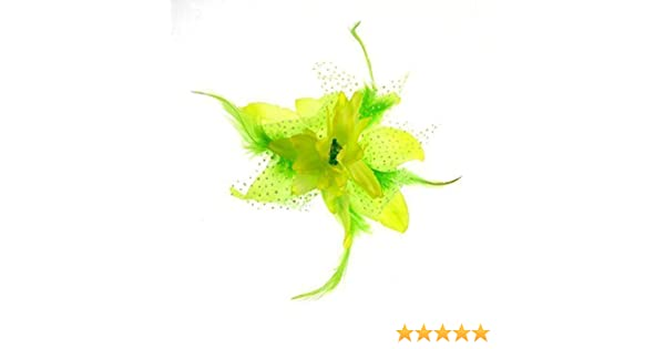 Large Triple Tropical Green Orchid Flower Hair Clip Fascinator 1950s Lily 6875