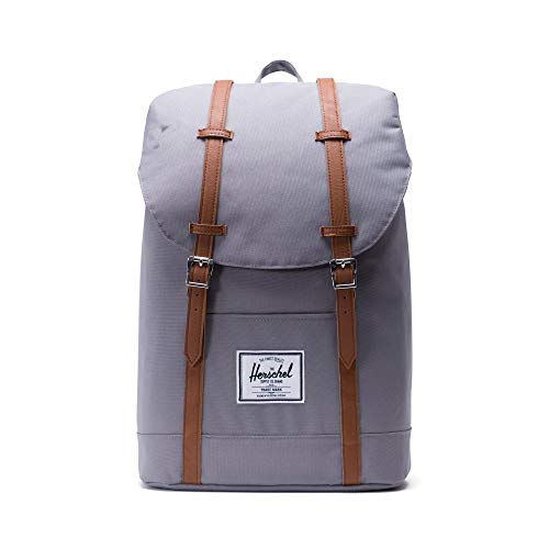 Herschel 10066-00006 Retreat Backpack Rucksack, 1 Liter, Grau/Tan (Built Laptop Rucksack)