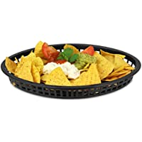 Tablecraft Texas Oval Platter Basket Black 32x24x4cm | Plastic Basket,