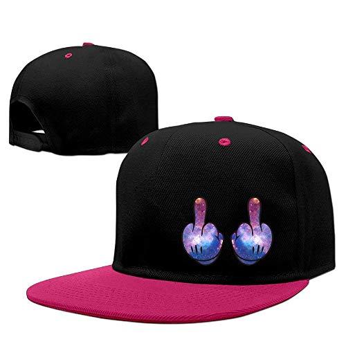 Mittelfinger Galaxy Unisex verstellbare Snapback Hip Hop Mütze Dad Cap