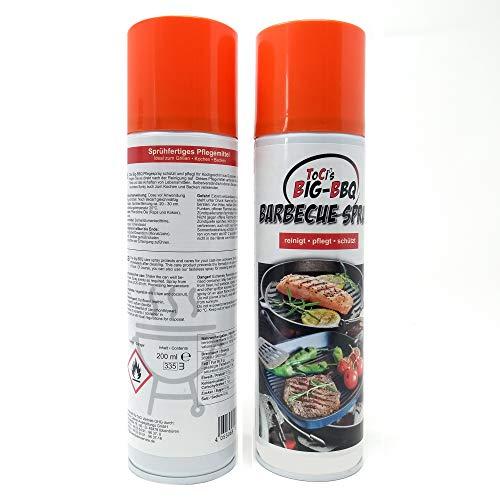 ToCis Big-BBQ Barbecue Pflege-Spray für Grill und Gußeisen 200 ml Dose Trennspray Trennfett Grillspray Backtrennmittel (2 Stück)