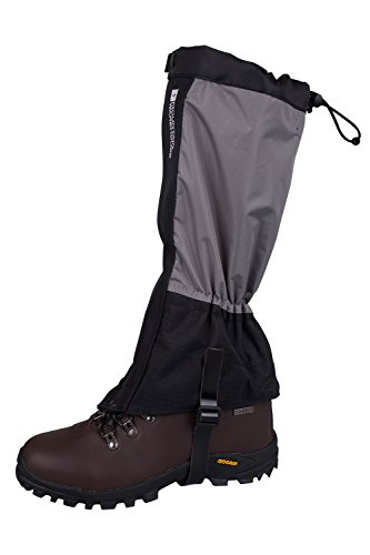 Mountain Warehouse Highland Gaiters - Waterproof Walking Boots Gaiters, Durable Leg Covers, Secure Front Closure, Boot Hook Walking Gaiters - For Keeping Water Out