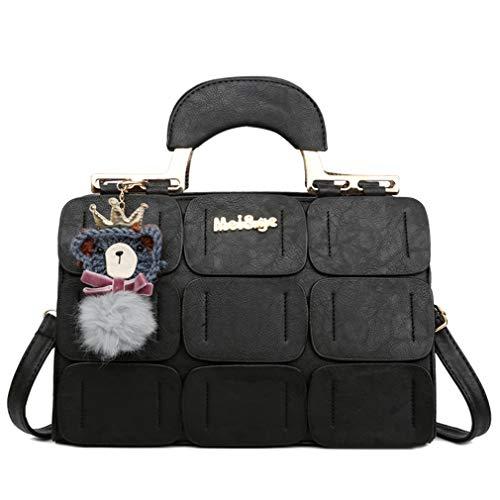 coofig Damen Handtasche aus PU-Leder mit Tragegriff oben