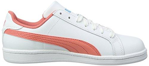 Puma Jungen Smash Fun L Sneaker Weiß (Puma White-Porcelain Rose 08)