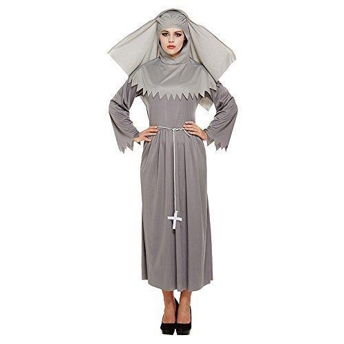 Damen Geist Schwester Nonne unheimlich Halloween (Schwester Erwachsene Nonne Kostüme Geist Für)