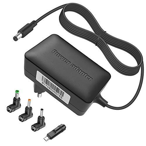BERLS 5V 3A Universal-Netzteil mit 4 Anschlüssen für Tablet, Bluetooth-Lautsprecheri, USB-Hub, Home-Telefon-System, DJ-Controller 5,5 mm x 2,1 mm