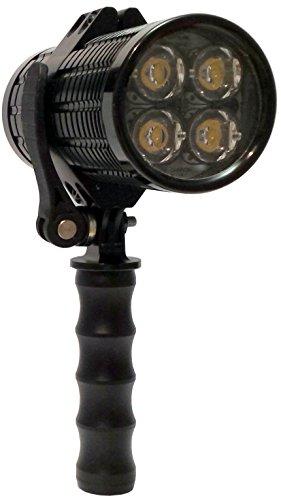 Fire Cannon - Lampe torche LED professionnelle 2 400 Lumens - Fabriquée en Italie - Rechargeable et portable - Pour randonnée, chasse, camping, photographie, secours