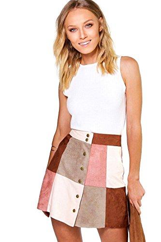 rougir-femmes-avah-patchwork-suedette-a-line-mini-jupe-4
