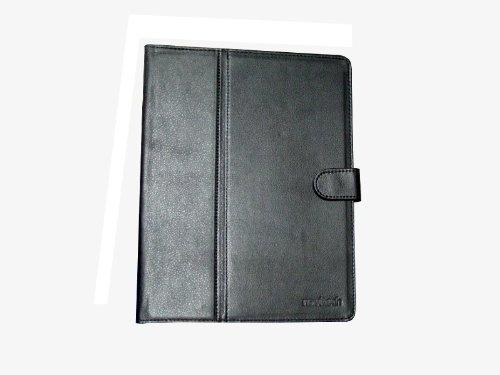 Schwarze Napa Leder (Navitech Schwarze 10 Zoll Echte Napa Leder Flip Trage Tasche/ Cover / Case Im Buch Stil Mit Einstellbarem Ständer Für Das Creative ZiiO 10-inch)