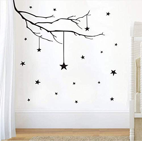 Wand-Aufkleber, DIY-Wand-Aufkleber für Kinderzimmer Trunk Star Baby Nursery Dekoration Vinyl-Aufkleber-Abziehbilder Wand-Kunst-Ausgangsdekor-Wand