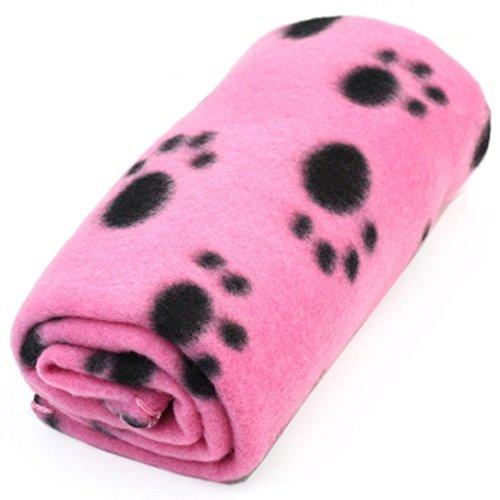 Meily Precioso Diseño Impresión de la pata caliente suave Fleece Blanket perro de mascota gato Mat Cachorro Sofá