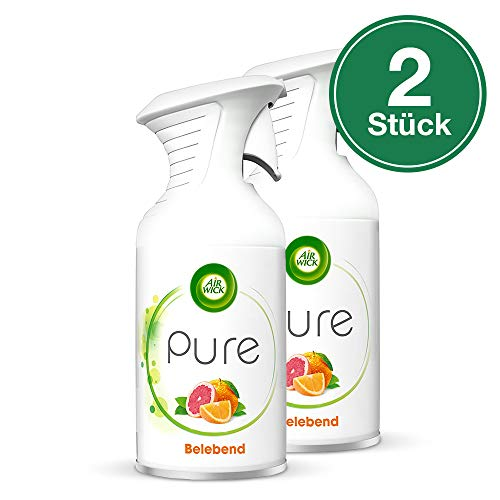 Air Wick Premium-Duftspray Pure Belebend, Orange & Grapefruit, 2er Pack (2 x 250 ml) -