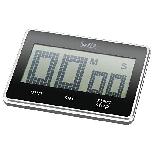Silit Attimo Digitaler Kurzzeitmesser, 9 x 7 cm, Küchentimer, Eieruhr, Kunststoff, schwarz