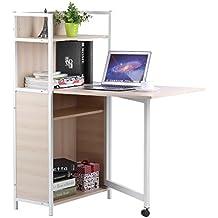 Mesas de computadora de madera Multifuncional, Escritorios, Estantería Diseño clásico 3 en 1 se puede colocar en el hogar y la oficina