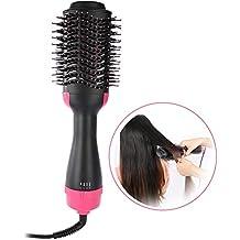 Secador de cabello de un solo paso Peine, 2-en-1 Rectificador de